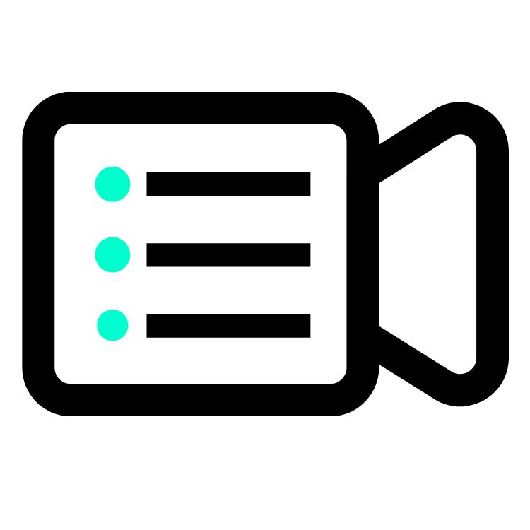 Virtual Team List - Camera List Icon